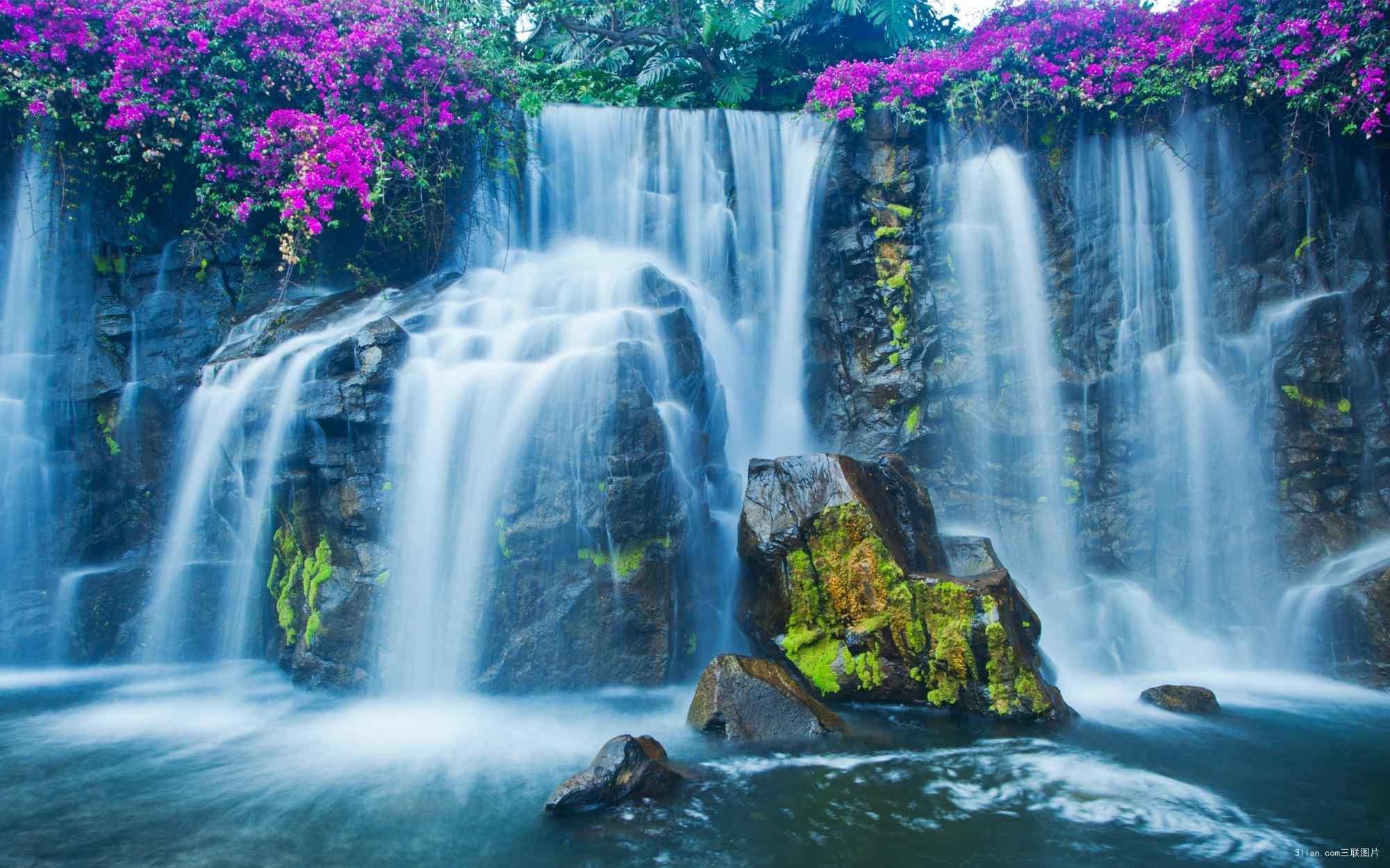 秀丽的黄果树瀑布风景图片