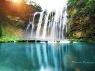 唯美风景之黄果树瀑布桌面壁纸