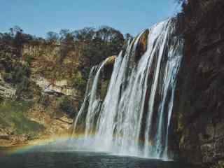 壮观的黄果树瀑布风景图片