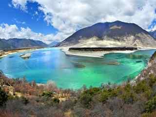 雅鲁藏布江风景图片桌面壁纸