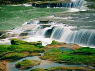 唯美风景黄果树瀑布桌面壁纸