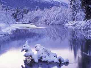 冬季河流图片桌面壁纸