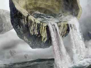 玄幻瀑布图片桌面壁纸