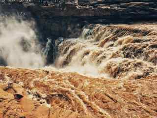 壶口瀑布壮观景象风景图片
