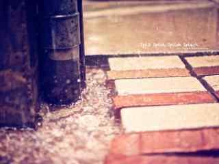 唯美清新下雨天风景桌面壁纸