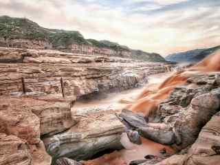 瀑布风景之壮观的壶口瀑布