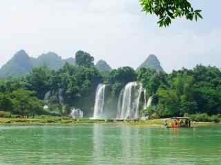 锦绣山水之德天瀑布风景图片