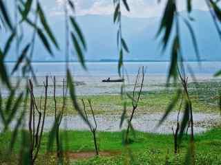 洱海清新春季风景图片桌面壁纸
