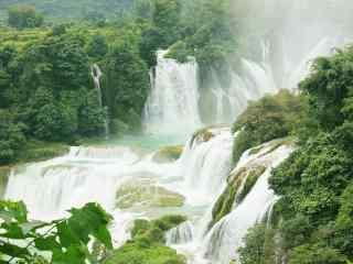 唯美壮观的德天瀑布风景图片