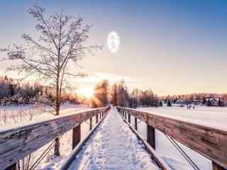 冬至日美丽雪景图