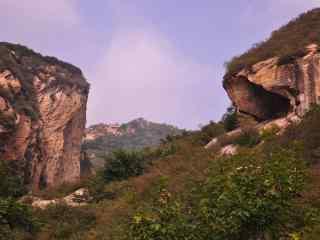 唯美幽静的山谷风景图片