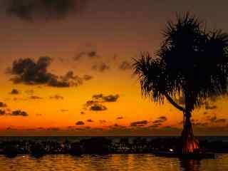 普吉岛唯美夕阳图片高清桌面壁纸