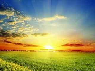 小清新夕阳风景图片护眼壁纸