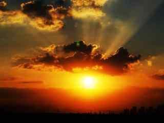 唯美的绚烂的夕阳风景图片