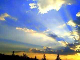 小清新夕阳风景图片