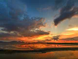 唯美的海陵岛夕阳风景图片