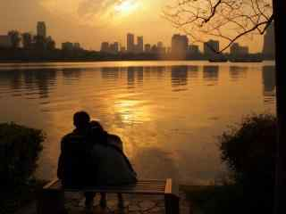 唯美浪漫的夕阳风景图片