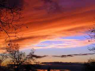 唯美的夕阳风景图片
