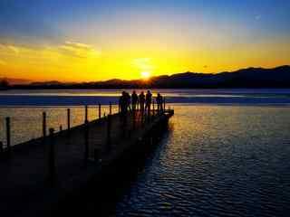 小清新唯美夕阳风景摄影图片