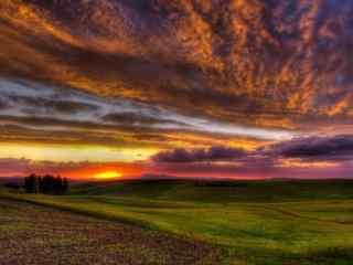 美丽的金色夕阳风景图片
