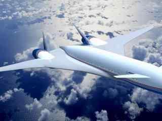 帅气飞机自由翱翔