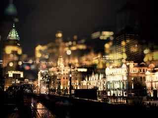 迷情上海唯美夜景图片桌面壁纸