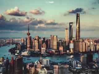 魔都上海唯美黄浦江风景图片桌面壁纸