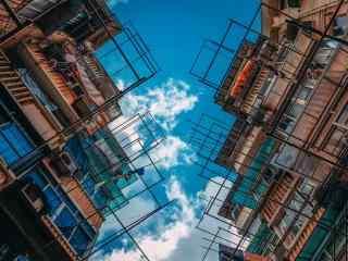 上海:上海特色居民楼摄影图片