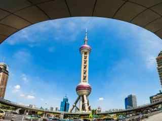 魔都上海东方明珠经典建筑图片桌面壁纸
