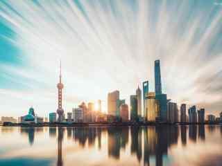 魔都上海唯美黄浦江外滩风景图片桌面壁纸
