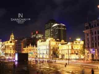 上海:外滩绚烂灯光夜景图片