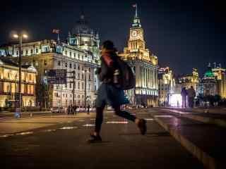 上海:夜上海华灯下的美丽风景