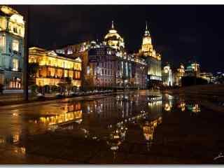 上海:外滩灯光唯美夜景图片