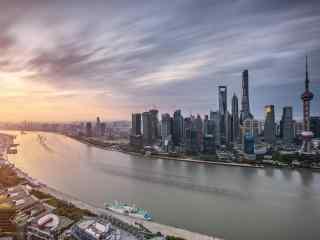 魔都上海黄浦江畔都市美景图片桌面壁纸