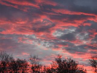 火红的晚霞风景图片