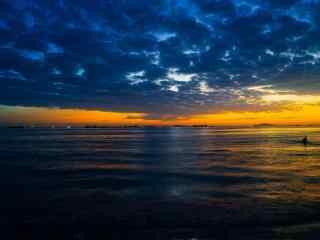 大海晚霞风景图片