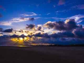 充满意境的大海晚霞风景图片
