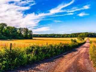 美丽的乡间田园风景壁纸