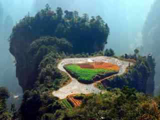 唯美的空中田园风景图片