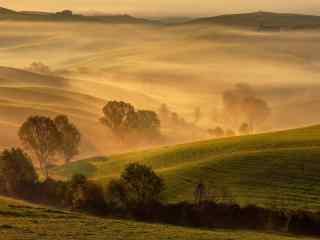 漫天风沙中的田园风景图片