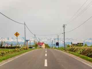 小清新富士山下田园风景图片