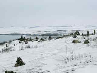 贝加尔湖雪景图片