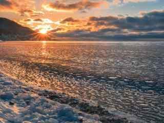 贝加尔湖唯美风景图片高清宽屏电脑桌面壁纸