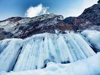 西伯利亚贝加尔湖唯美冬日风景图片
