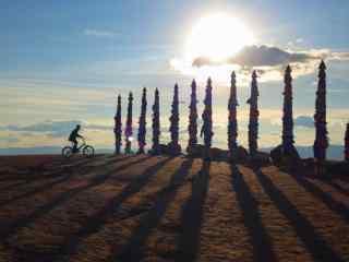 贝加尔湖畔民族风情风景图片