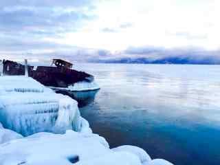贝加尔湖唯美雪景图片桌面壁纸
