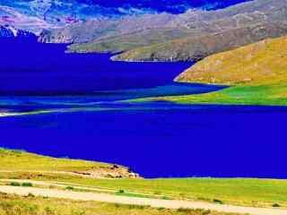 贝加尔湖畔优美风景图片护眼壁纸