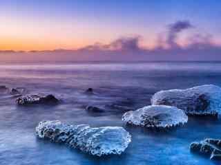 贝加尔湖冬季风景图片