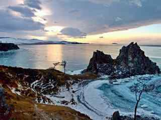 冰封贝加尔湖独特风景图片