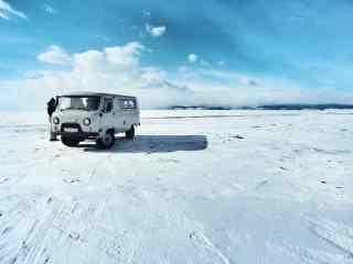 贝加尔湖冬季小清新风景图片
